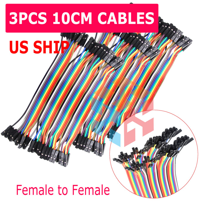10cm 40pcs Breadboard Jumper Wire Female Female