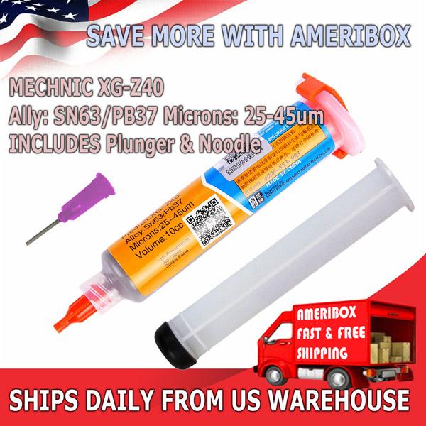 XG-Z40 10cc MECHANIC Syringe Solder Paste Flux Sn63//Pb37 25-45um