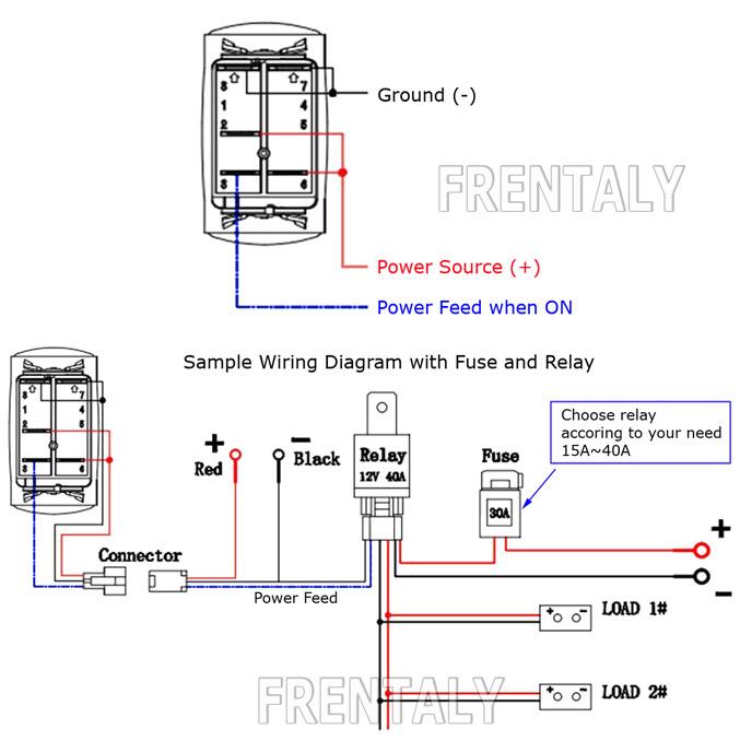 6 gang rocker switch panel circuit breaker led voltmeter rv