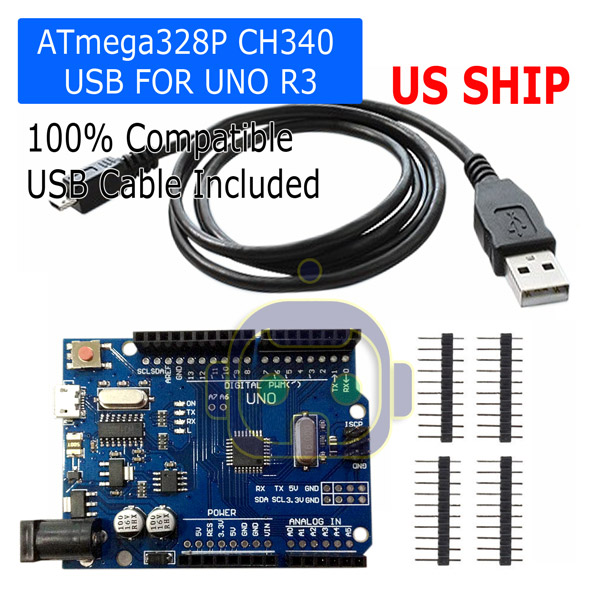 5pcs UNO R3 Mega328P CH340G SMD Development Board with USB Cable for Arduino