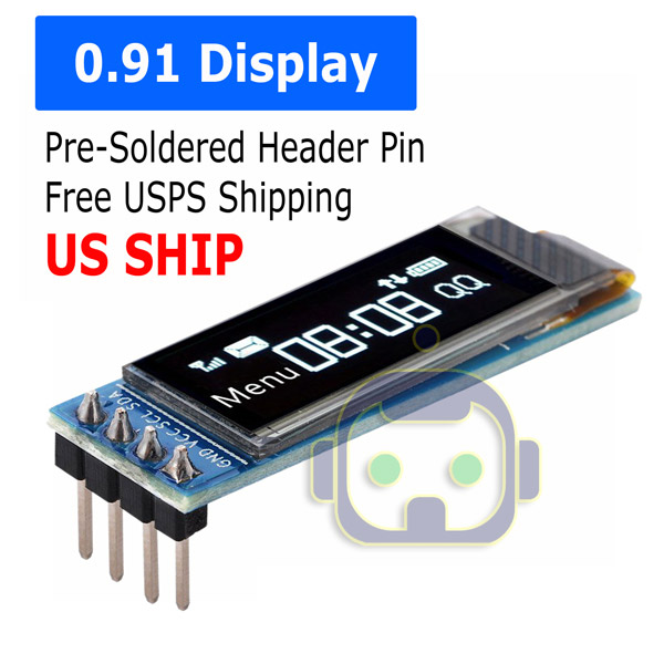 Details about 0 91'' 128x32 IIC I2C White OLED Display DIY Module DC3 3V 5V  For PIC Arduino