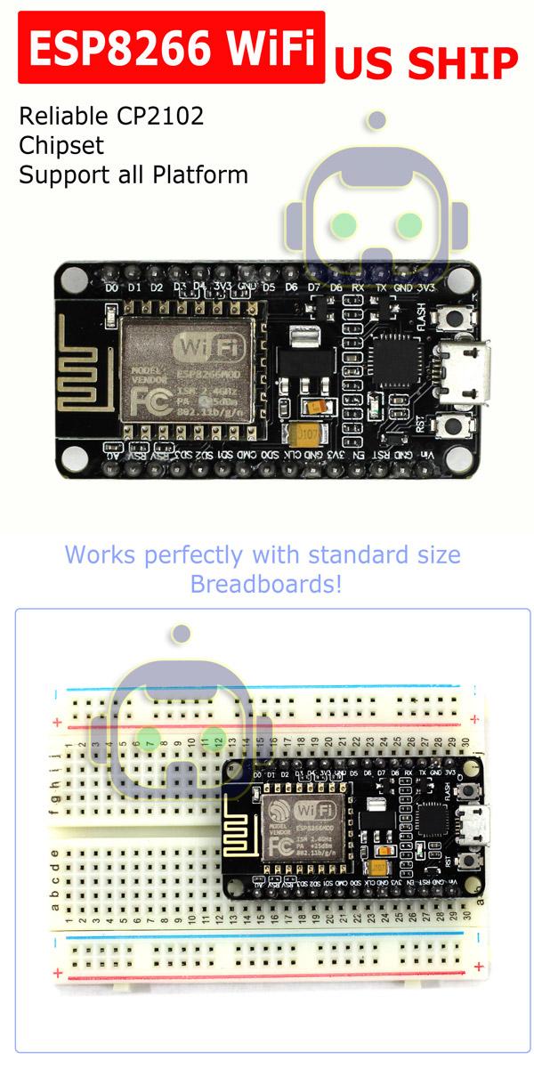 Details about NodeMCU Lua ESP8266 ESP-12E cp2102 Arduino compatible wifi  development board