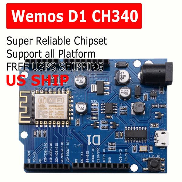 OTA WeMos D1 CH340 WiFi Development Board ESP8266 ESP-12E For Arduino IDE UNO R3