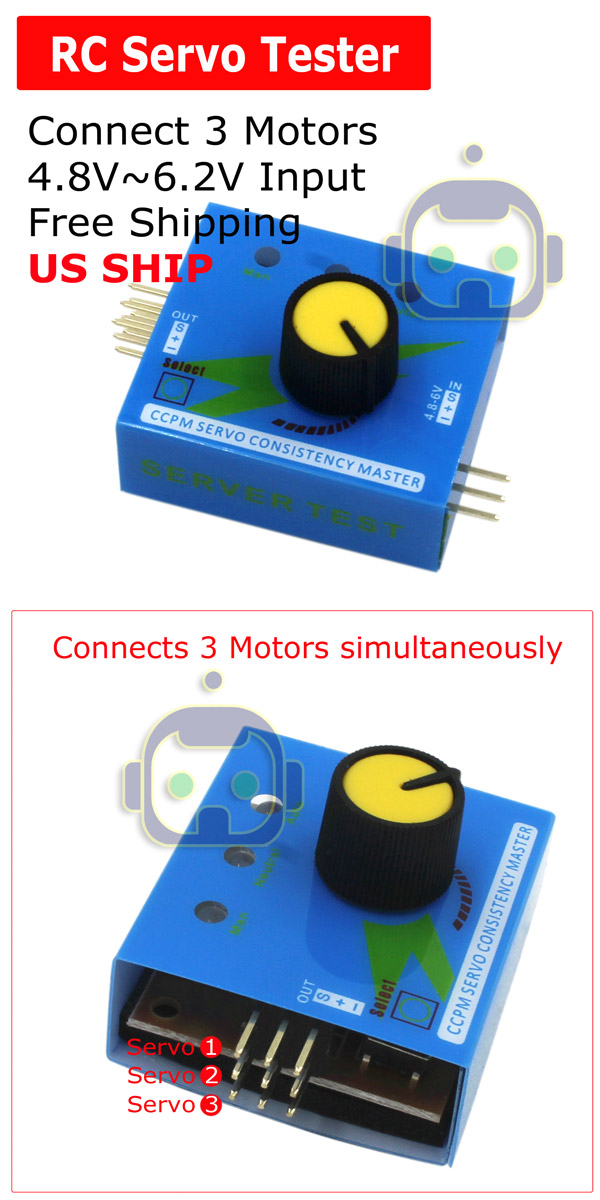 Steering Gear Tester CCPM 3-Modes ESC Servo Motor for RC Helicopters*Adjustments