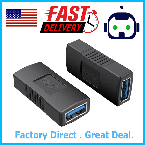 Fast Delivery. USB 2.0 A Female To Female Gender Changer Adapters USA location